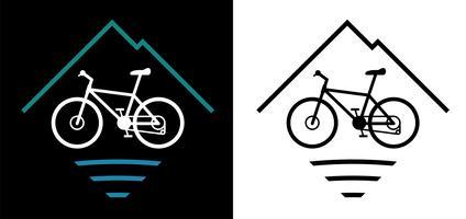 Ilustração em vetor logotipo Mountain Bike