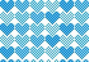Pacote de vetores de padrão de coração de pixel
