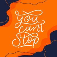 Letras motivacionais laranja sobre o trabalho para fora vetor