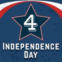 Cartaz do dia da independência vetor