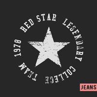Selo vintage de estrelas