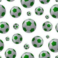 Fundo sem emenda de bola de futebol vetor