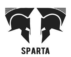 Ícone do capacete espartano vetor