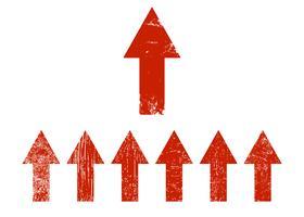 Conjunto de setas vermelhas vetor