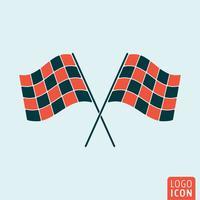 Ícone de bandeira de corrida vetor