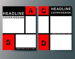 Modelo de brochuras de capa vetor