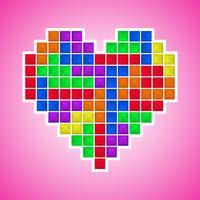 Coração de videogame antigo