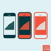 Ícone de smartphones isolado