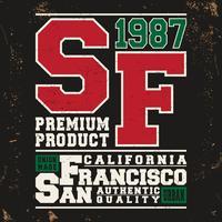 Selo vintage de São Francisco vetor