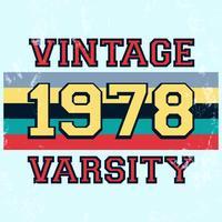 Selo vintage do time do colégio