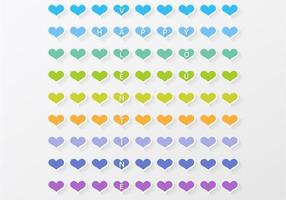 Coração colorido dos namorados vetor fundo