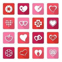Pacote de vetores de coração dia dos namorados