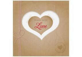 Fundo de vetor de coração de papelão
