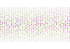 Estilo de intervalo mínimo colorido abstrato do teste padrão de pontos no fundo branco.