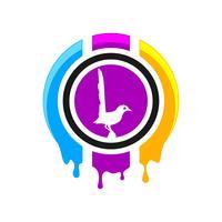 Design de logotipo de impressão digital