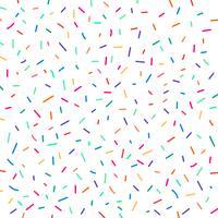 Confetes coloridos festivos do carnaval no fundo branco. Padrão de feriado de aniversário de elemento.