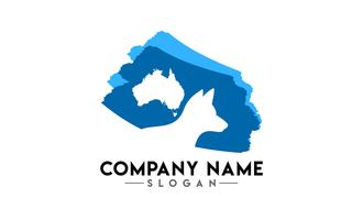 logotipo de escova animal australiano