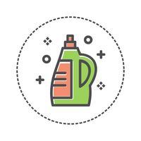 garrafa de detergente para a roupa