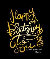 Feliz aniversário para você design vetor