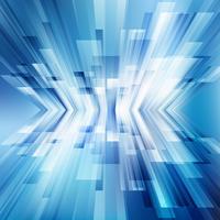 As linhas azuis diagonais geométricas abstratas sobrepõem o conceito brilhante da tecnologia do fundo da perspectiva do movimento do negócio da camada. vetor