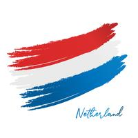 bandeira de netherland vetor