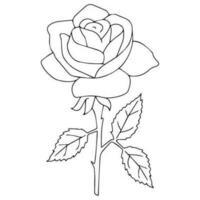 Contorno de rosa negra vetor