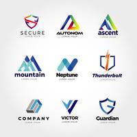 Modelo de Design de logotipo de negócio criativo colorido abstrato vetor