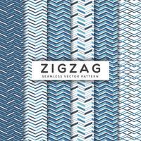 Padrões de vetores sem costura ziguezague azul marinho