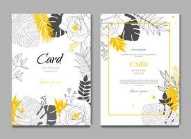Fundo de quadro Floral de casamento Tropical de verão vetor