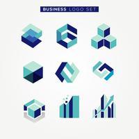 Logotipo da empresa moderna abstrata negócios conjunto sinal símbolo ícone vetor