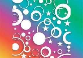 Círculo brilhante e vetor de fundo estrela