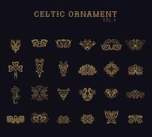 Conjunto de coleta de ornamento celta vetor