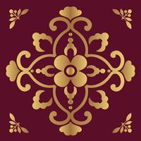 Fundo de design ornamental de luxo na cor dourada vetor
