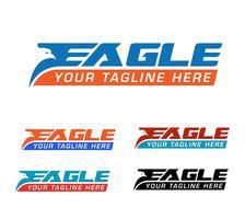 logotipo expresso da águia vetor