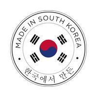 Feita no ícone de bandeira da Coreia do Sul. vetor
