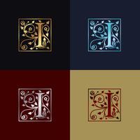 Carta I Logotipo Decorativo