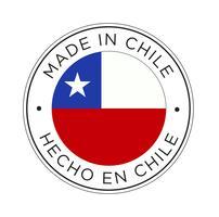Feita no ícone da bandeira do Chile. vetor