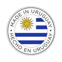 Feita no ícone da bandeira do Uruguai. vetor