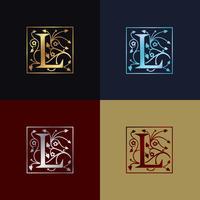Logotipo decorativo da letra L
