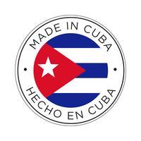 Feita no ícone de bandeira de Cuba. vetor
