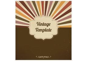 Fundo Vintage Vector Sunburst