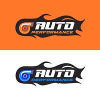 Logotipo de desempenho automático vetor