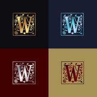Logotipo Decorativo Letra W vetor