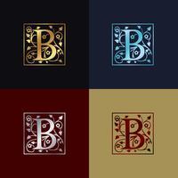 Logotipo decorativo da letra B vetor