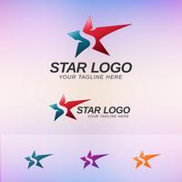 Conceito de logotipo de estrela vetor