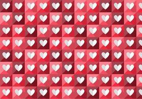 Padrão de vetor de coração dobrado