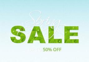 Vetor de fundo de venda de primavera