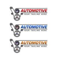Design de modelo de logotipo automotivo vetor