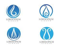 Logotipo de natureza de gota de água e símbolos modelo ícones app .. vetor