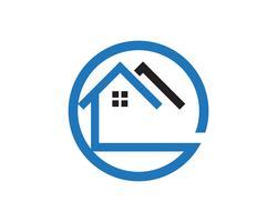 Logotipo de casa e app de ícones de modelo de símbolos vetor